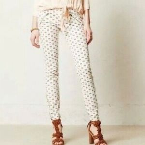 Pilcro and the Letterpress Pattern Zip Ankle Jeans